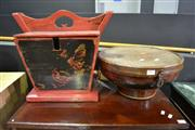 Sale 8099 - Lot 807 - 2 Chinese Lidded Containers