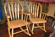 Sale 8115 - Lot 1207 - Pair of Childrens Rocking Chairs
