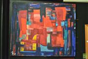 Sale 8214 - Lot 2068 - Large Abstract Oil Painting
