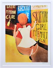 Sale 8259 - Lot 558 - Charles Blackman (1928 - ) - Skipping Girl 90 x 67cm