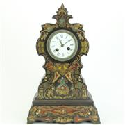 Sale 8413 - Lot 80 - French Inlaid Clock by G. Henry
