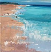 Sale 8665 - Lot 513 - Cheryl Cusick - Beach Crowd 102 x 102cm