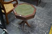 Sale 8013 - Lot 1430 - Octagonal Occasional Table With Green Insert Top