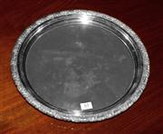 Sale 8127A - Lot 63 - Abbey Silverplate on Copper Tray with Grape & Leaf Border,
