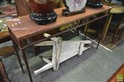 Sale 8347 - Lot 1052 - Marble Top Hall Table
