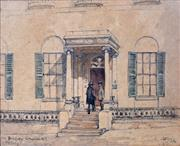 Sale 8389 - Lot 590 - Albert Henry Fullwood (1863 - 1930) - Old Treasury - Church Hill, Sydney 21.3.91 15.5 x 19cm