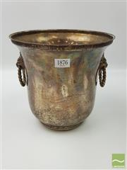 Sale 8439F - Lot 1876 - Nice Plated Champagne Bucket with Lion Motif Handles