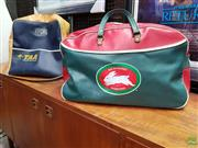 Sale 8566 - Lot 1128 - Vintage South Sydney Rabbitohs Gear Bag & Trans-Australia Airlines Bag (2)