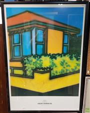 Sale 8587 - Lot 2060 - Howard Arkley - Untitled, 1988 (Museum of Contemporary Art Poster) decorative print, 104 x 72cm (frame)