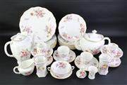 Sale 8827D - Lot 10 - Large Royal Crown Derby Part Suite Posies (Two Matched Sets), some cracks