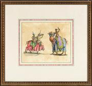 Sale 9087H - Lot 282 - Antique coloured engraving depicting the pageant celebrating the 1000 year jubilee of Saint Rumold, Patron of Mechlin, published in...