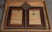 Sale 8994H - Lot 51 - Very large Tramp-art Australian 19th century frame of mixed timbers in purpose built crate -