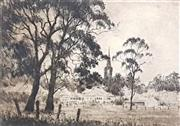 Sale 9058 - Lot 2087 - Gary Baker Chellaston Reserve, etching ed.13/25, frame: 34 x 36 cm, signed lower right