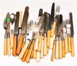 Sale 9104 - Lot 62 - A large collection of mostly ivory handled knives