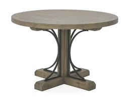 Sale 9140F - Lot 203 - Hardy Interiors original design. 1.2m round dining table in smokehouse made from fruitwood & iron. Dimensions: W120 x D120 x H77 cm
