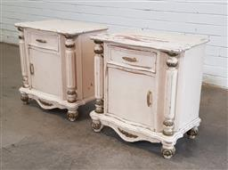 Sale 9151 - Lot 1486 - Pair of French Provincial bedside chests (h:60 x w:59 x d:40cm)