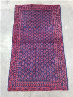 Sale 9166 - Lot 1062 - Hand knotted pure wool Persian Baluchi ( 140 x 80cm)