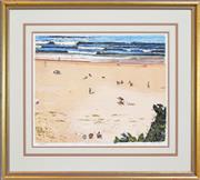 Sale 8257A - Lot 17 - John Earle (1955 - ) - Whale Beach 38 x 45.5cm
