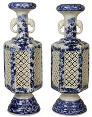 Sale 8268A - Lot 67 - HIRADO ANTIQUE JAPANESE PAIR OF VASES