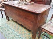 Sale 8444 - Lot 1020 - Large French Oak Chest, with later hinged top & shaped legs