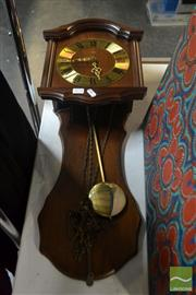 Sale 8537 - Lot 2175 - AMS Wall Clock with Pendulum & Weights