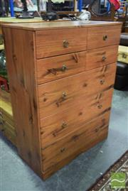 Sale 8550 - Lot 1205 - Timber Chest of Seven Drawers