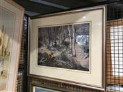 Sale 8759 - Lot 2086 - Osric Hawke - Native Bushlands, Watercolour, SD88 LL, 36x49 -