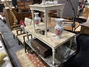 Sale 8876 - Lot 1070 - French Coffee Table with Marble Top, together with a smaller example