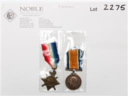 Sale 9156 - Lot 219 - A WW1 1(914-15 medal) and British War Medal (PTE James Stockton)