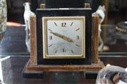 Sale 7989 - Lot 50 - Hardy Bros Art Deco Marble and Onyx 8 Day Clock