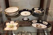 Sale 7998 - Lot 99 - Blue and Gilt Dinner Wares incl Doulton, Limoges, and Bavaria