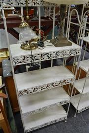 Sale 8013 - Lot 1108 - White Metal Bakers Stand