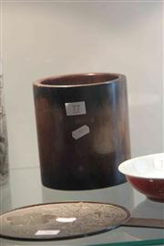 Sale 8032 - Lot 77 - Timber Brushpot