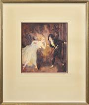 Sale 8259 - Lot 575 - Norman Lindsay (1879 - 1969) - The Hush, 1925 30 x 27cm