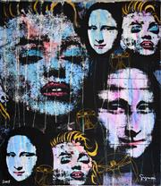 Sale 8325A - Lot 168 - Artist Unknown (XX) - Da Vinci/Warhol - Mona Lisa/Marilyn 133 x 115.5cm
