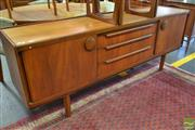 Sale 8528 - Lot 1093 - Vintage Teak Sideboard with Large Circular Handles