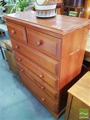 Sale 8550 - Lot 1431 - Pine Chest Of Six Drawers