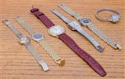 Sale 8593A - Lot 134 - A quantity of vintage ladies fashion watches including Christian Dior, Bulova, etc