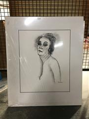 Sale 8750 - Lot 2094 - Group of (6) charcoal Portait & Nude Studies by Val Landa (mounted/unframed) -