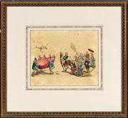 Sale 9087H - Lot 283 - Antique coloured engraving depicting the pageant celebrating the 1000 year jubilee of Saint Rumold, Patron of Mechlin, published in...