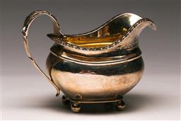 Sale 9122 - Lot 158 - A George The IV Hallmarked Sterling Silver Sauce Boat, London, c1823 By W.H