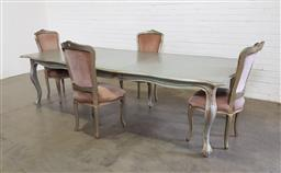 Sale 9151 - Lot 1398A - French style extension table with 4 upholstered chairs (h:75 x w:215 x d:122cm)