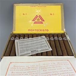 Sale 9165 - Lot 603 - Montecristo No.5 Cuban Cigars - box of 25 cigars, dated February 2016