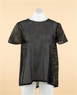 Sale 9250F - Lot 23 - A Scanlan & Theodore black broderie anglaise netting top, size 8.