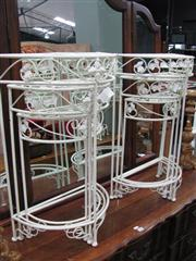 Sale 7932A - Lot 1155 - Nests of Half Moon Metal Tables x 2