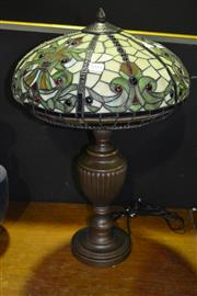 Sale 7987A - Lot 1010 - Table lamp with Lead-light Shade