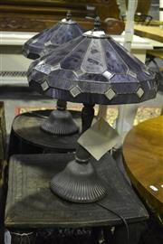 Sale 8058 - Lot 1024 - Pair of Leadlight Table lamps
