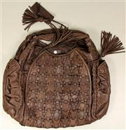 Sale 8060B - Lot 395 - A CAMILLA BROWN LEATHER BAG; 52 x38cm