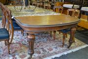 Sale 8093 - Lot 1829 - Victorian Silky Oak Extension Dining Table including Four Leaves