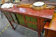 Sale 8099 - Lot 849 - Red Lacquer Altar Table